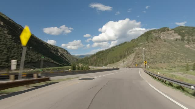minturn 6 synced series front highway 24 summer driving - number 6 stock videos & royalty-free footage