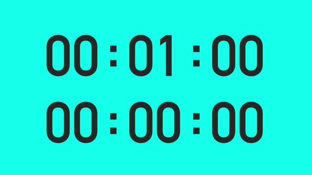 1 minute timer - vector animate - stop watch stock videos & royalty-free footage