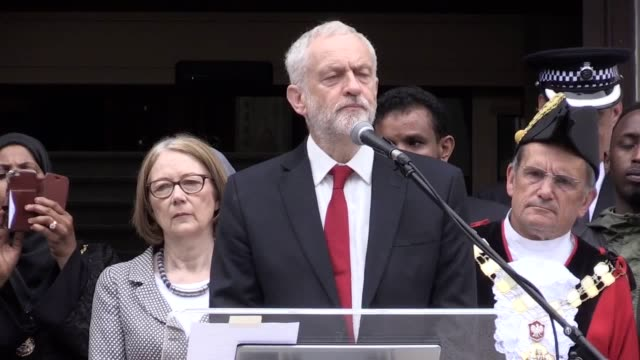 minute's silence is held at islington town hall for the finsbury park attack. jeremy corbyn and sadiq khan give speeches. emily thornberry, sajid... - islington stock videos & royalty-free footage
