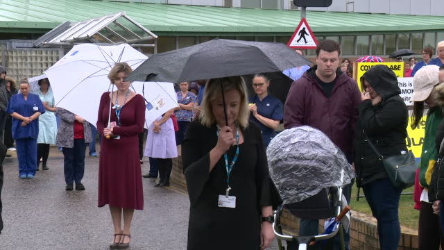 a minutes silence observed across the uk for keyworkers dying or have died during the coronavirus pandemic - monument stock videos & royalty-free footage