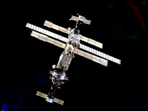 ms mir space station, nasa - mir space station stock videos & royalty-free footage