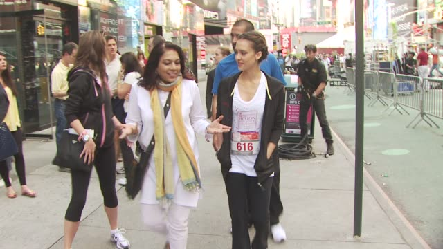 mira nair and jessica alba at the 13th annual eif revlon run/walk for women at new york ny - revlon stock videos and b-roll footage
