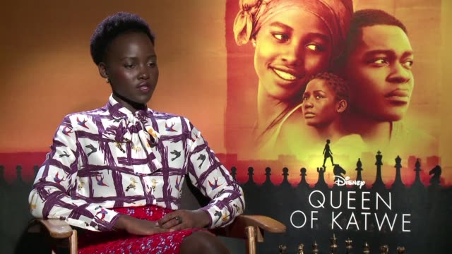 mira nair's queen of katwe starring oscar winner lupita nyong'o chronicles the true story of a ugandan girl who pursues her dream of becoming an... - lupita nyong'o stock videos and b-roll footage