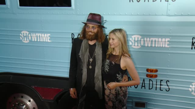 Mira Sorvino and Christopher Backus at The Showtime Original Series Roadies Los Angeles Premiere at The Theatre at Ace Hotel Downtown LA on June 06...