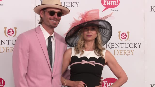 Mira Sorvino at 143rd Kentucky Derby at Churchill Downs on May 6 2017 in Louisville Kentucky