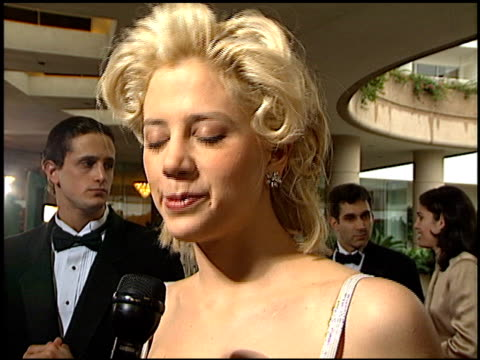 Mira Sorvino at the 1996 Golden Globe Awards at the Beverly Hilton in Beverly Hills California on January 21 1996