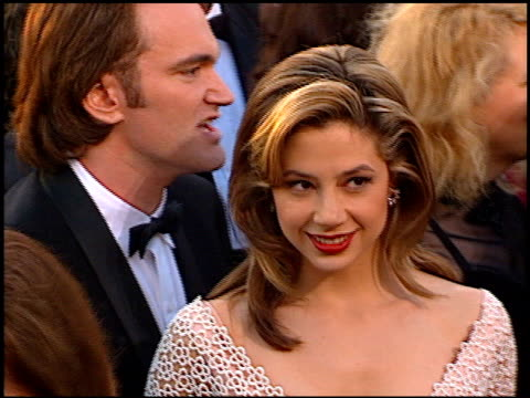 Mira Sorvino at the 1997 Academy Awards Arrivals at the Shrine Auditorium in Los Angeles California on March 24 1997