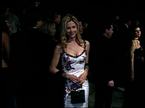 Mira Sorvino at the 2002 Academy Awards Vanity Fair Party at Morton's in West Hollywood California on March 24 2002
