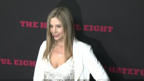 """mira sorvino at """"the hateful eight"""" world premiere at arclight cinemas on december 07, 2015 in hollywood, california. - arclight cinemas hollywood stock videos & royalty-free footage"""