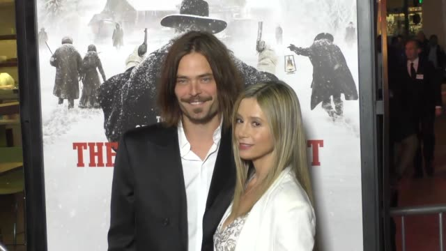 Mira Sorvino Christopher Backus at the Hateful Eight Premiere at ArcLight Theatre in Hollywood at Celebrity Sightings in Los Angeles on December 07...