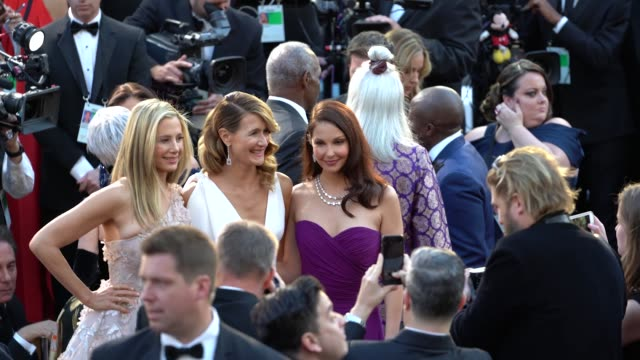mira sorvino laura dern and ashley judd at 90th academy awards arrivals alternative views at dolby theatre on march 04 2018 in hollywood california - 90th annual academy awards stock videos & royalty-free footage