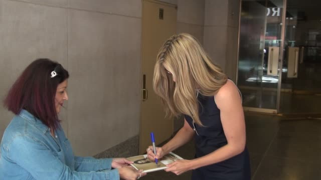 Mira Sorvino on being a Star Trek fan and meeting George Takei while on the TODAY show and exits the show in Rockefeller Center Celebrity Sightings...