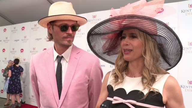 INTERVIEW Mira Sorvino on enjoying the derby with her husband and her favorite horse at 143rd Kentucky Derby at Churchill Downs on May 6 2017 in...