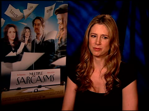 Mira Sorvino on her character changes throughout the film at the 'Multiple Sarcasms' Junket at Los Angeles CA
