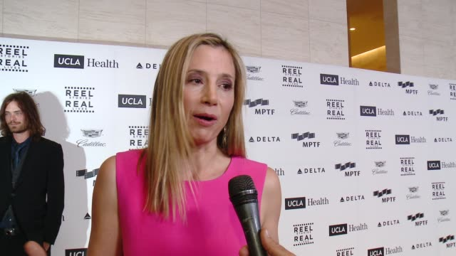 INTERVIEW Mira Sorvino on her honoree and the organization at 4th Annual Reel Stories Real Lives Benefiting The Motion Picture Television Fund at...