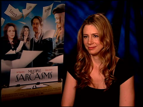 Mira Sorvino on if she could go back in time would she change anything about her life at the 'Multiple Sarcasms' Junket at Los Angeles CA