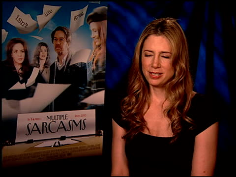 Mira Sorvino on what attracted her the role and movie at the 'Multiple Sarcasms' Junket at Los Angeles CA
