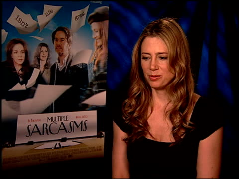 Mira Sorvino on working with the cast at the 'Multiple Sarcasms' Junket at Los Angeles CA