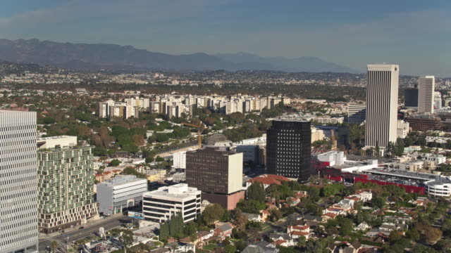 miracle mile from the air - the grove los angeles stock videos & royalty-free footage