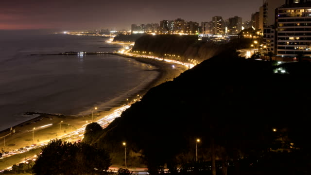 miraflores lima peru time lapse - lima peru stock videos and b-roll footage