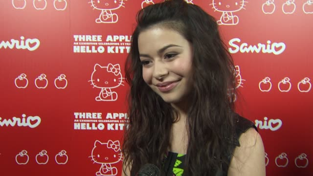 miranda cosgrove on when she first discovered hello kitty and her fondest memory why she loves hello kitty how many hello kitty items she owns why... - hello kitty stock videos and b-roll footage