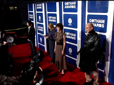 miranda july at the ifp's 15th annual gotham awards arrivals at pier 60 at chelsea piers in new york, new york on november 30, 2005. - independent feature project video stock e b–roll
