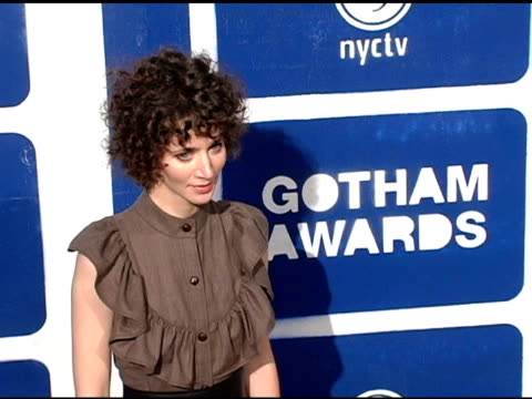 miranda july at the ifp's 15th annual gotham awards arrivals at pier 60 at chelsea piers in new york new york on november 30 2005 - chelsea piers stock videos & royalty-free footage