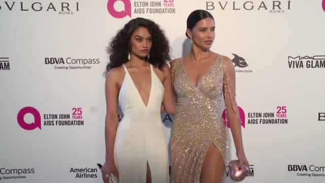 miranda kerr and shanina shaik at elton john aids foundation presents the 26th annual academy awards viewing party on march 04 2018 in west hollywood... - miranda kerr stock videos and b-roll footage