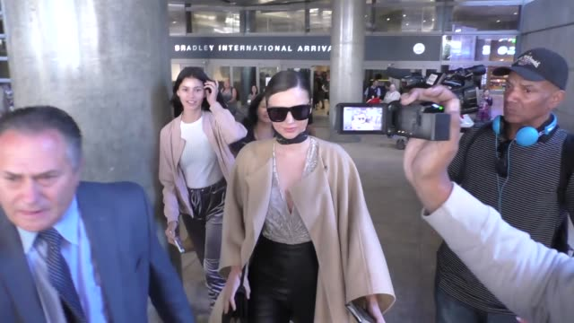 miranda kerr arriving at lax airport in los angeles in celebrity sightings in los angeles - miranda kerr stock videos and b-roll footage