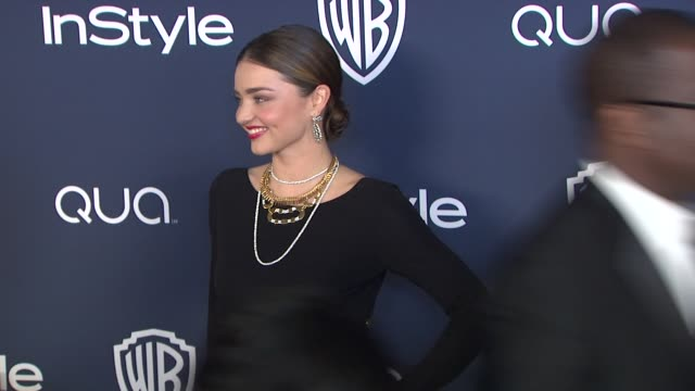 vídeos de stock, filmes e b-roll de miranda kerr at 2014 instyle and warner bros. 71st annual golden globe awards post-party at the beverly hilton hotel on in beverly hills, california. - the beverly hilton hotel