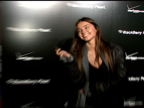 miranda kerr at the blackberry pearl 8130 launch party at the iac building in new york, new york on january 30, 2008. - electronic organiser stock videos & royalty-free footage