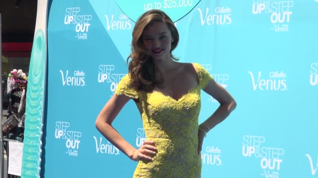 miranda kerr at the gillette venus 'step up and step out' event in new york ny on 6/4/13 - miranda kerr stock videos and b-roll footage