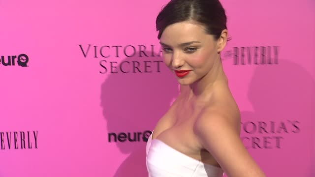 miranda kerr at the victoria's secret 6th annual 'what is sexy list bombshell summer edition' pink carpet event at los angeles ca - miranda kerr stock videos and b-roll footage