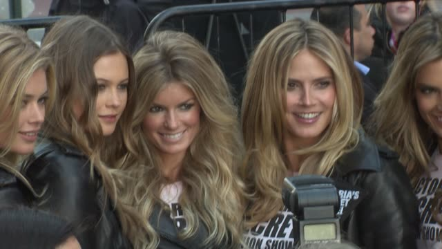 Miranda Kerr Doutzen Kroes Behati Prinsoloo Marisa Miller Heidi Klum and Alessandra Ambrosia at the Victoria's Secret Supermodels Take Over Times...
