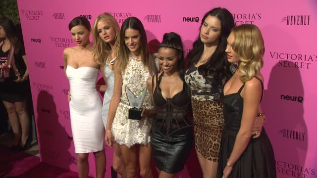 miranda kerr erin heatherton alessandra ambrosio katerina graham adriana lima candice swanepoel at the victoria's secret 6th annual 'what is sexy... - miranda kerr stock videos and b-roll footage