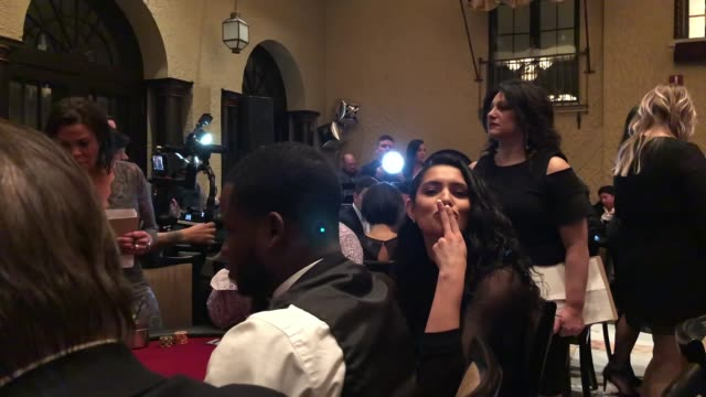 miranda rae mayo at the generation rescue celebrity poker tournament on march 9, 2019 in st. charles, illinois. - ジェニー・マッカーシー点の映像素材/bロール