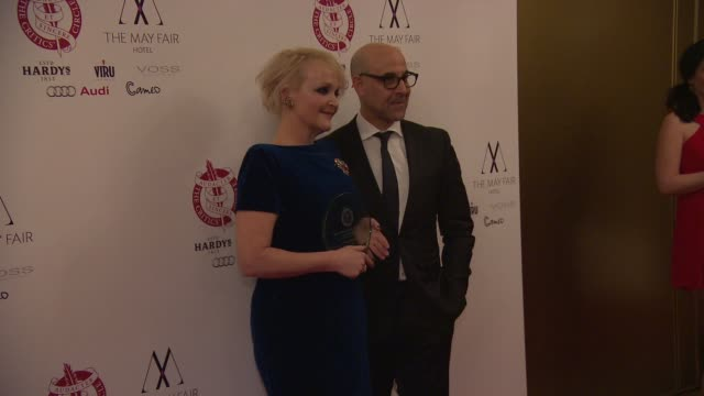 BROLL Miranda Richardson and Stanley Tucci at London Critics Circle Awards