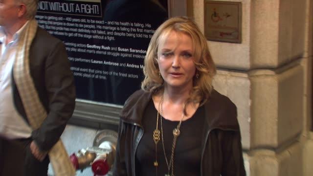 miranda richardson at the exit the king - broadway opening night - arrivals at new york ny. - ミランダ リチャードソン点の映像素材/bロール