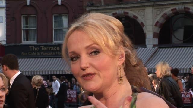 miranda richardson at the made in dagenham world premiere at london england. - ミランダ リチャードソン点の映像素材/bロール