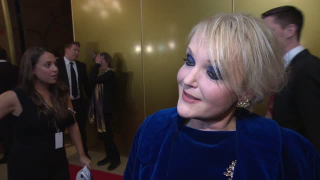 miranda richardson on receiving a dilys powell award and people in her life who have inspired her at london critics circle awards - ミランダ リチャードソン点の映像素材/bロール