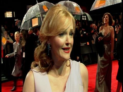 miranda richardson on the bafta's being nominated and more at the orange british academy film awards 2011 at london england. - ミランダ リチャードソン点の映像素材/bロール