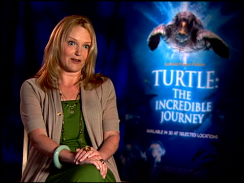 miranda richardson on what audiences will take away from the film. at the 'turtle: the incredible journey' junket at los angeles ca. - ミランダ リチャードソン点の映像素材/bロール