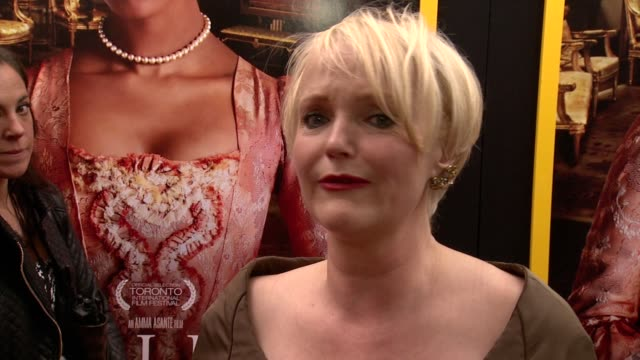 miranda richardson talks about the importance of the film and how no one knew of it's history, including the british. what she wants film goers to... - ミランダ リチャードソン点の映像素材/bロール