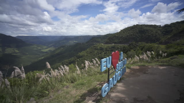vídeos de stock, filmes e b-roll de mirante da rota do sol, rio grande do sul, brazil - mountain range