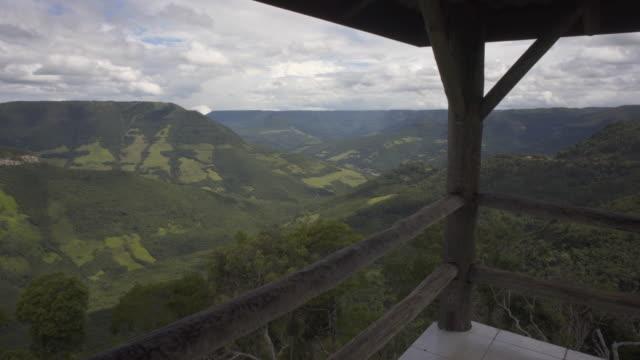 mirante da rota do sol, rio grande do sul, brazil - stato di rio grande do sul video stock e b–roll