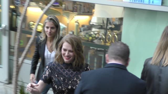 mireille enos signs for fans at the premiere of netflix's sierra burgess is a loser at arclight cinemas in hollywood in celebrity sightings in los... - arclight cinemas hollywood stock videos & royalty-free footage