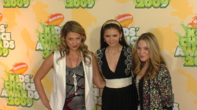 Miriam McDonald Nina Dobrev Lauren Collins at the Nickelodeon's 22nd Annual Kids' Choice Awards at Los Angeles CA