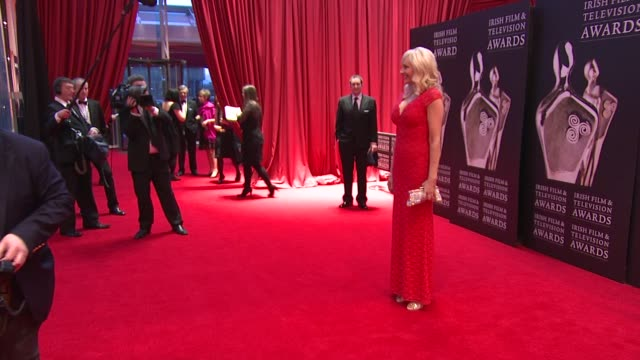 miriam o'callaghan at the iftas at convention centre dublin, ireland on february 11th 2012 - irish film and television awards stock videos & royalty-free footage