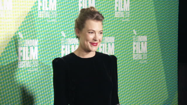 mirrah foulkes at 'judy punch' european premiere 63rd bfi london film festival at embankment gardens cinema on october 12 2019 in london england - the times bfi london film festival stock videos & royalty-free footage