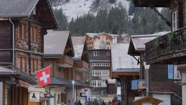 mirren village, bernese oberland, canton of bern, switzerland, europe - village stock videos & royalty-free footage